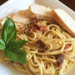 Creamy Sun-dried Tomato Basil Chicken with Linguine