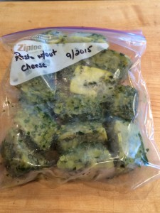 Freezing Basil Pesto