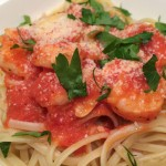 Shrimp Scampi over Linguine