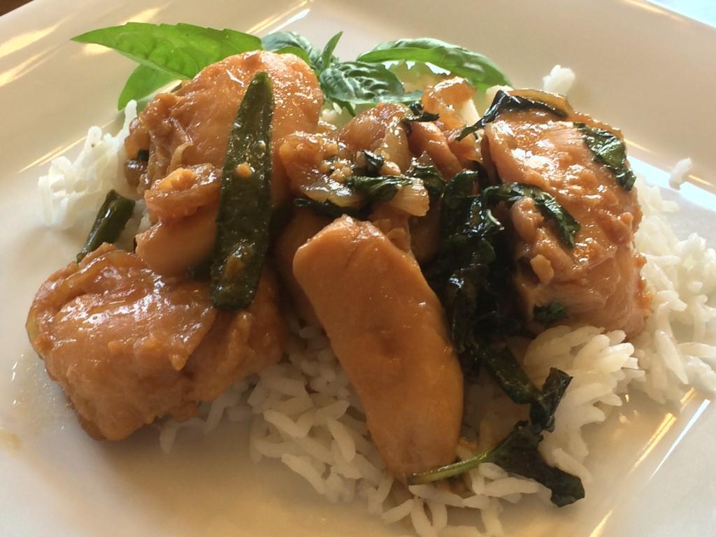 Thai Basil Chicken | Sweet Tea (with Lemon)
