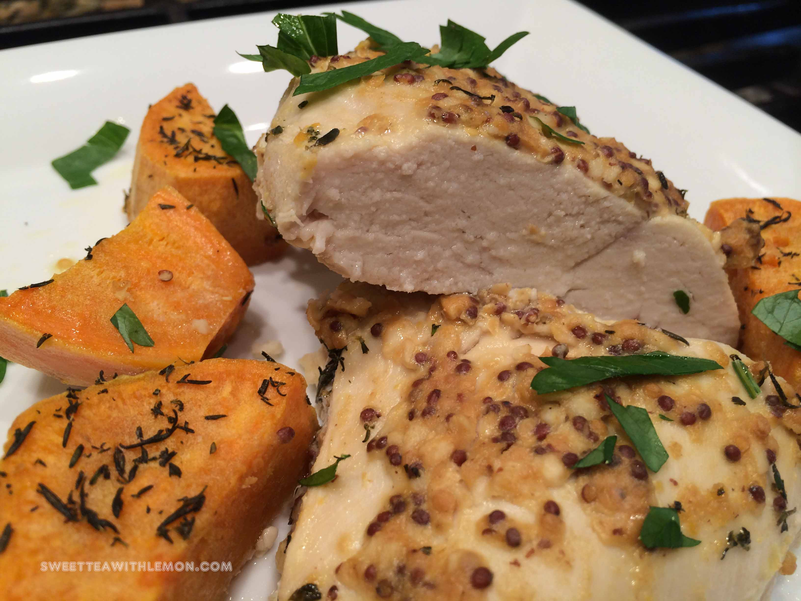 Roasted Chicken and Sweet Potatoes