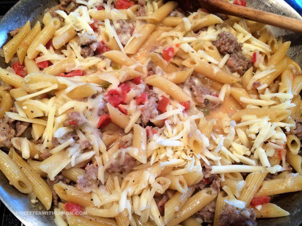 One Skillet Italian Sausage Pasta