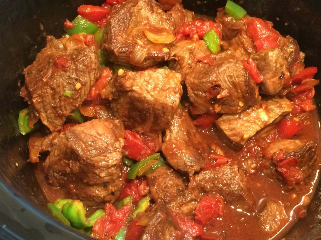 Pepper Steak in Slow Cooker