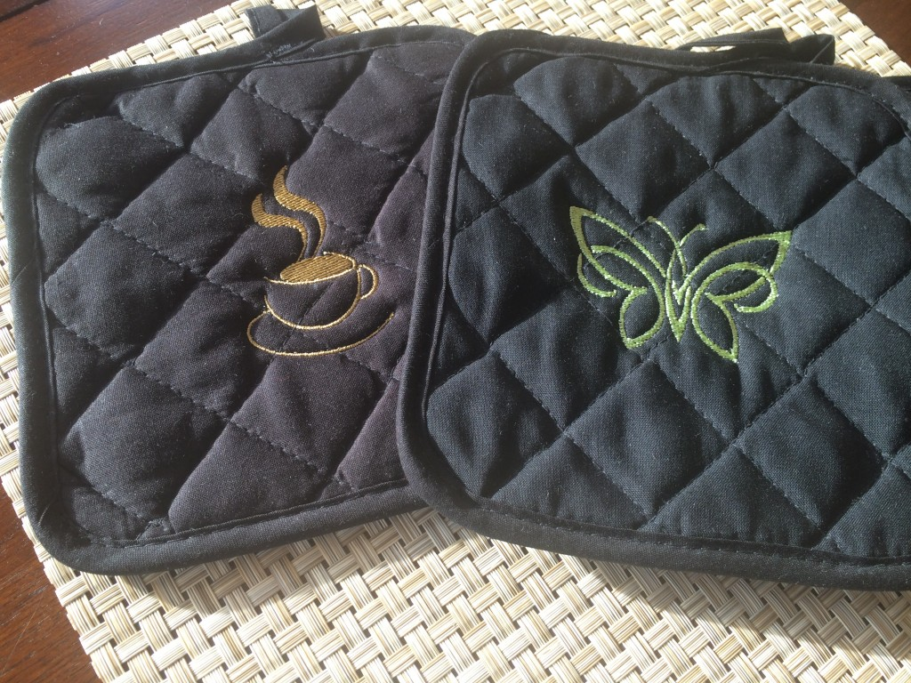 Pot Holders with Embroidery
