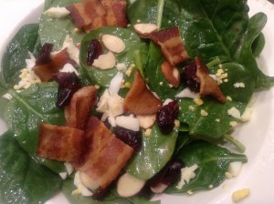 Spinach Salad with Spinach Salad Dressing
