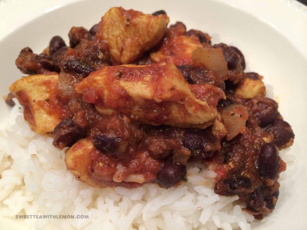 Mediterranean Chicken with Black Beans