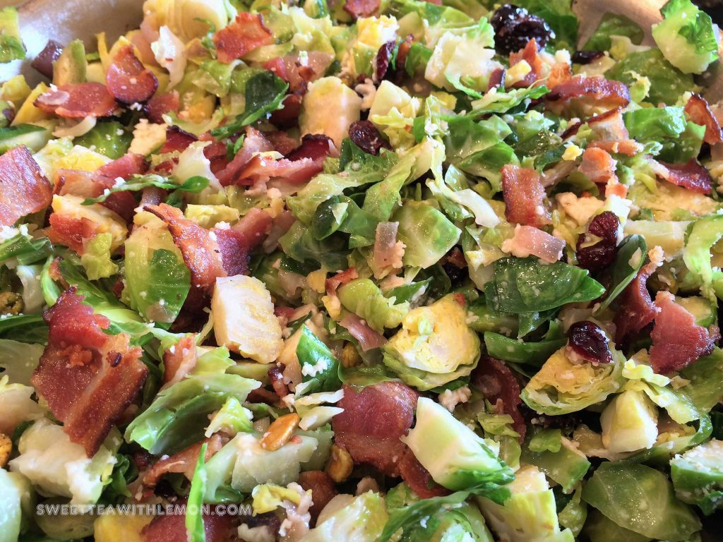 Brussels Sprouts with Pistachios and Bacon