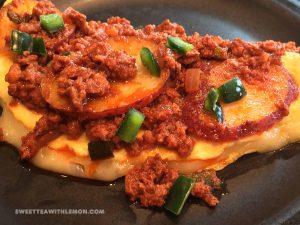 Chorizo and Potato Omelette