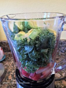 Kale and Strawberry Avocado Smoothie