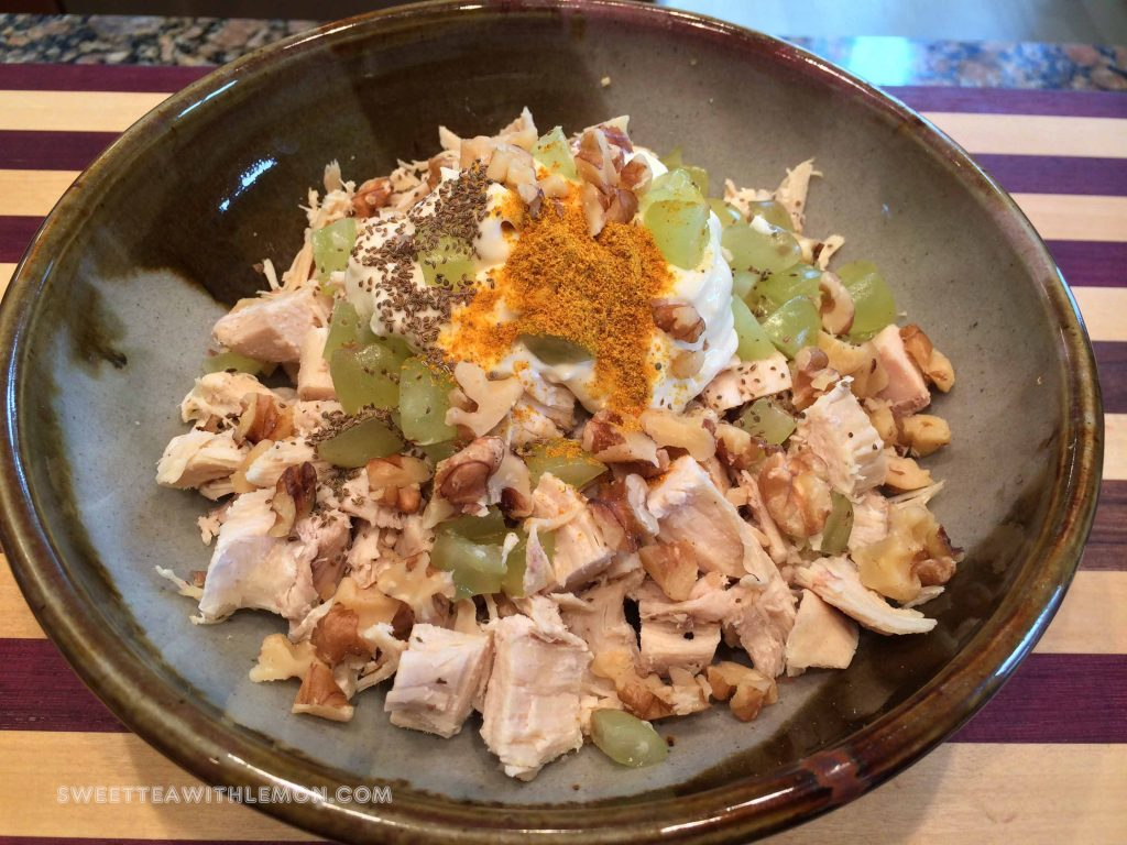 Curry Walnut Chicken Salad